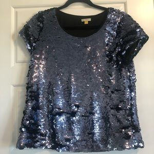 Anthropologie by LEIFSDOTTIR SEQUIN TEE. Medium.